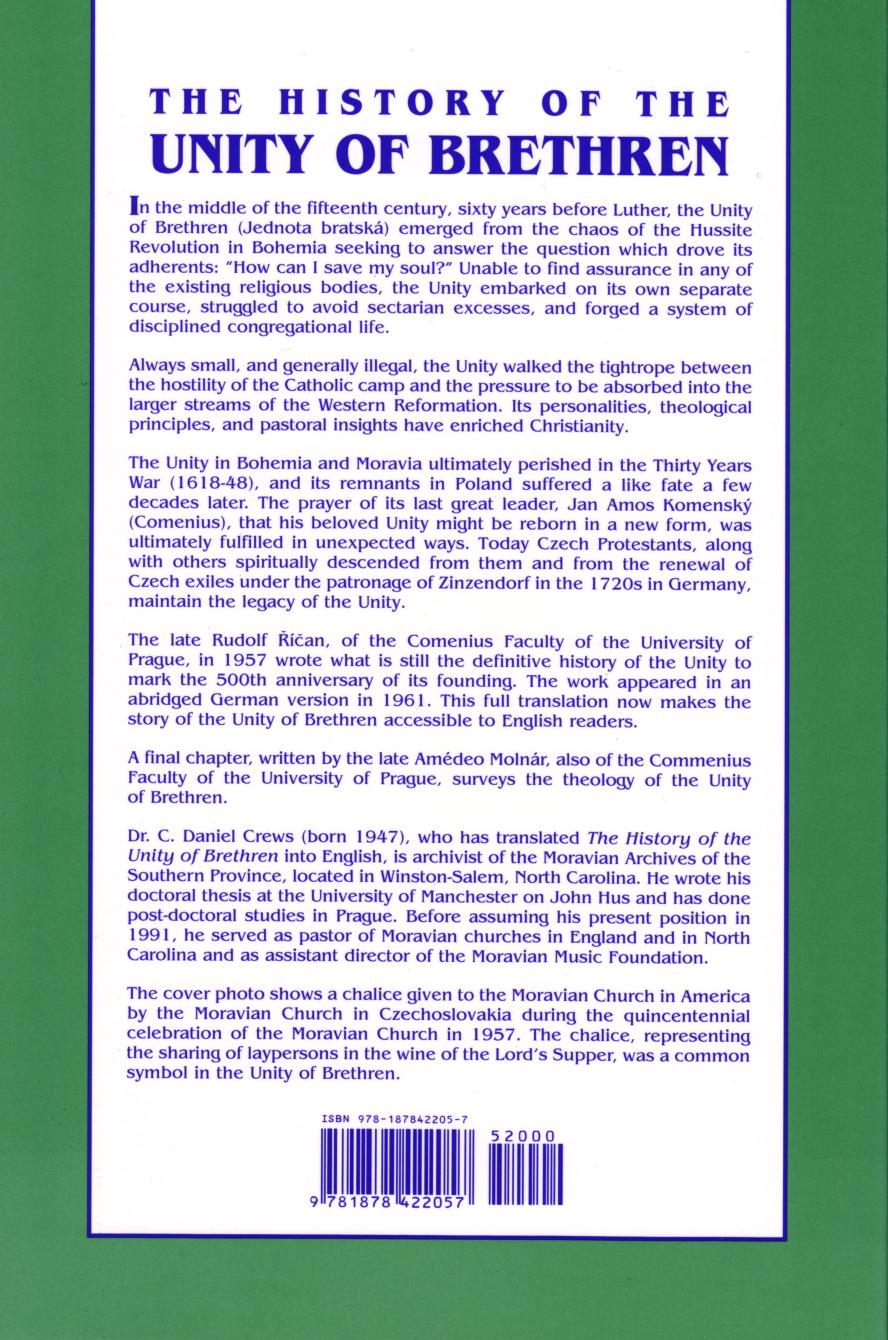 History of the Unity of Brethren