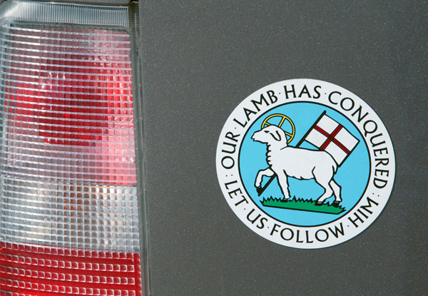 Moravian Seal Car Magnet