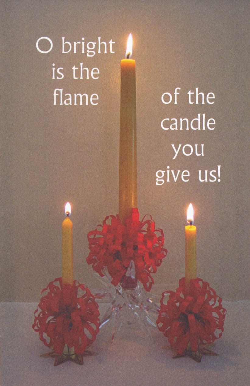 Triple Red-trimmed Candle Bulletin