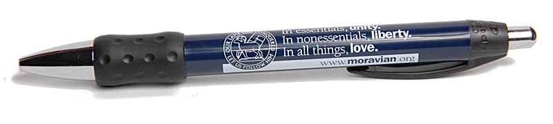 Moravian Ball Point Pen with Motto