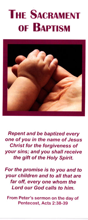 Brochure: The Sacrament of Baptism