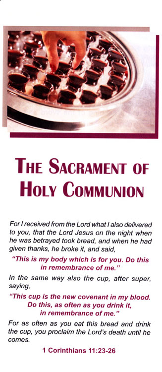 Brochure: The Sacrament of Holy Communion