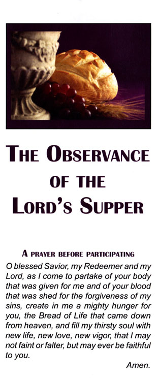 Brochure: The Observance of the Lord's Supper