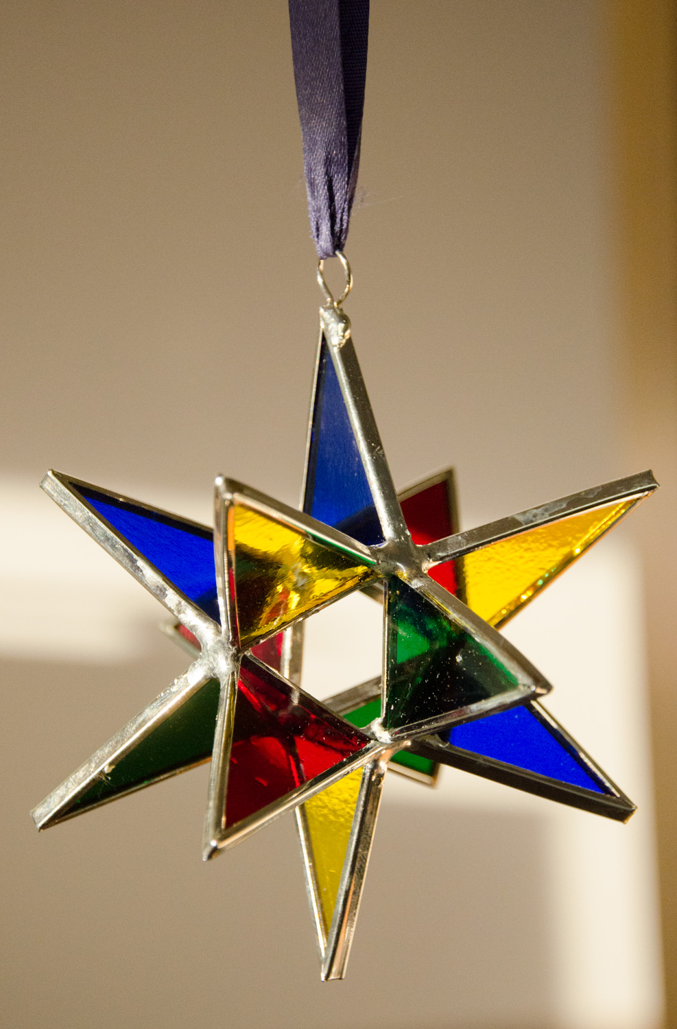 Stained Glass Moravian Star - Multicolor 4""
