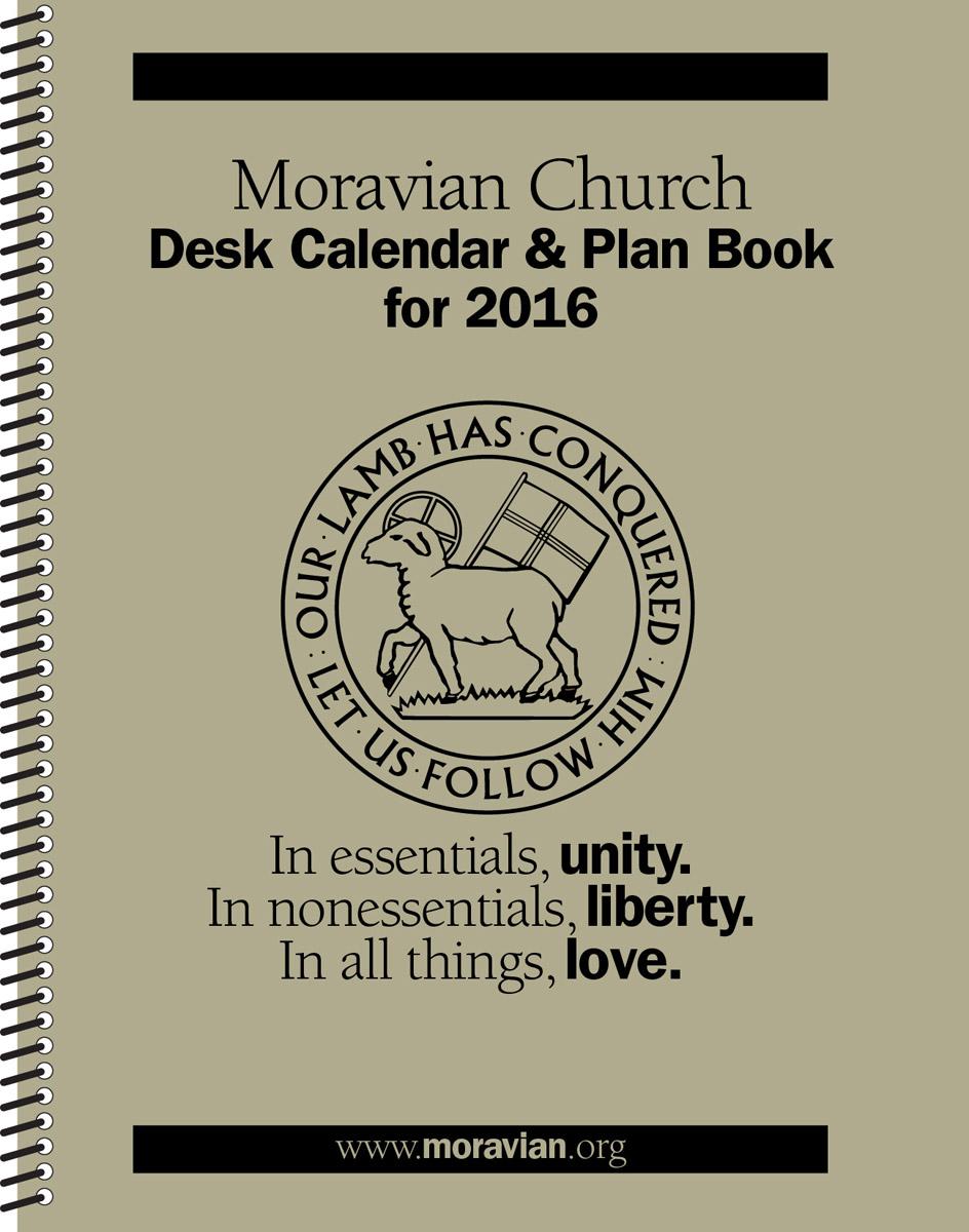 Moravian Church Desk Calendar & Plan Book for 2016
