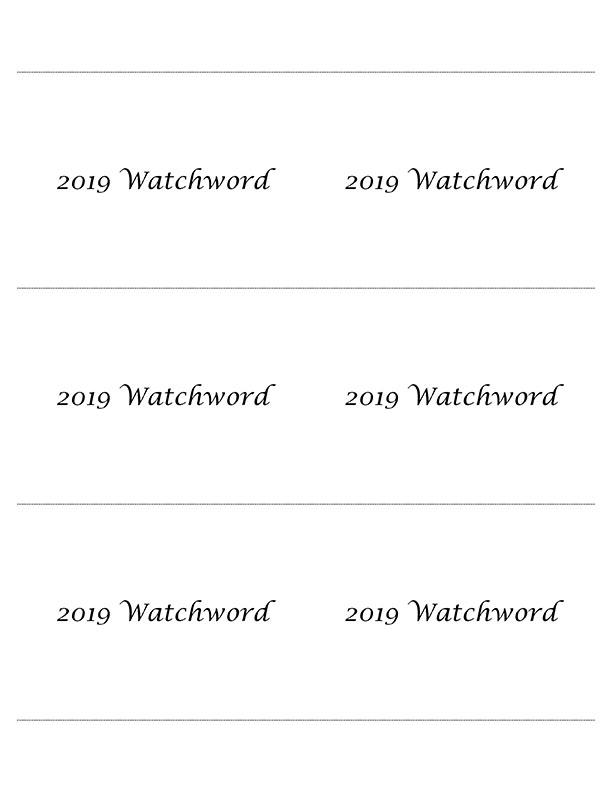 Microsoft Word – 2019 Watchwords.docx